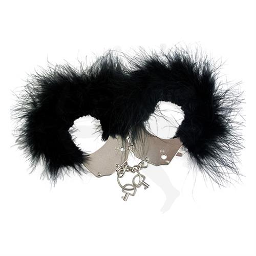 Esposas de peluche color negro